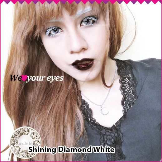 Shining Diamond White Contacts at www.e-circlelens.com