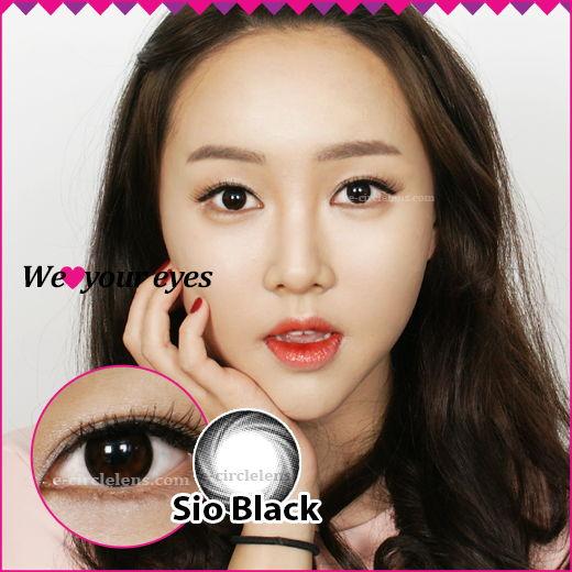 Sio Black [Silicone Hydrogel] ★UV Block★ at www.e-circlelens.com