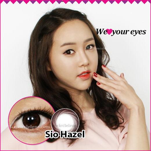 Sio Hazel [Silicone Hydrogel] ★UV Block★ at www.e-circlelens.com