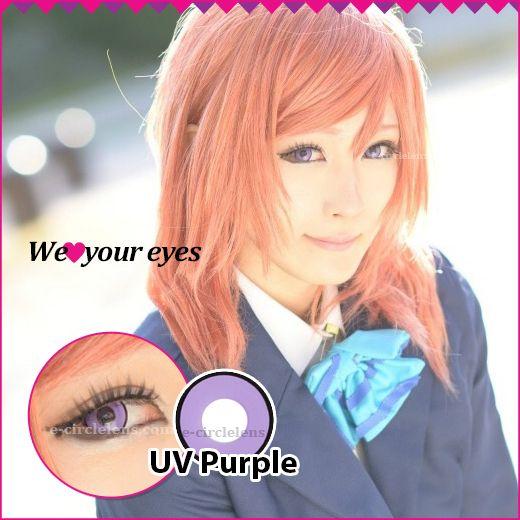 UV Purple Contacts at e-circlelens.com