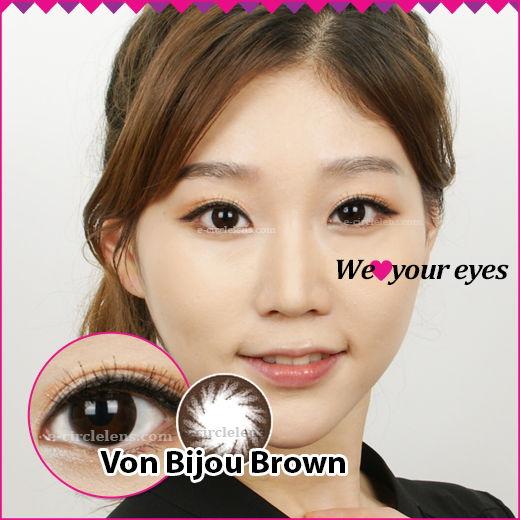 Von Bijou Brown Contacts at www.e-circlelens.com