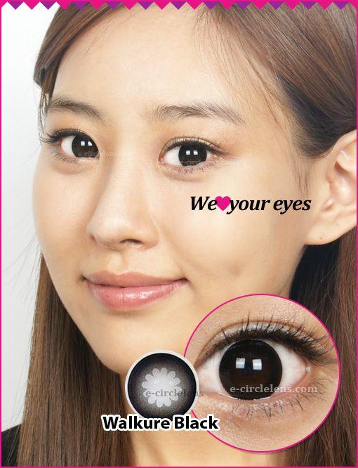 Walkure Black Contacts at www.e-circlelens.com